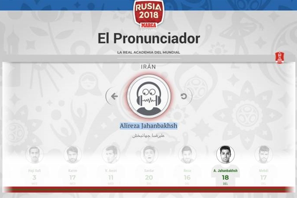 Marca helps you pronounce correctly the name of each player.