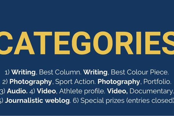 The categories. Up to two submissions per person. And it