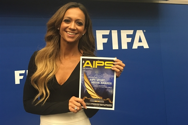 Journalist and FOX TV presenter Kate Abdo was presenting the FIFA Conference for Equality and Inclusion 2018 at FIFA Headquarters in Zurich, Switzerland on March 2, 2018. www.aipsawards.com